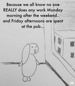 Monday - workweek bunny bunreal