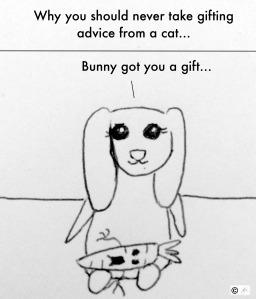 the christmas present bunny bunreal